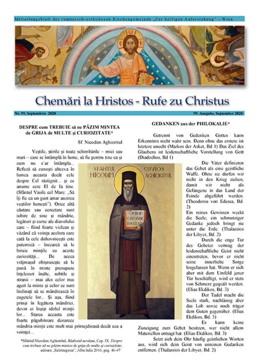 Revista Chemări la Hristos, <br />nr. 99 / 2020